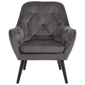RI 1739 173 11 – Astro Resting Chair VIC Dark Grey, Rubber Wood Leg Black (1)