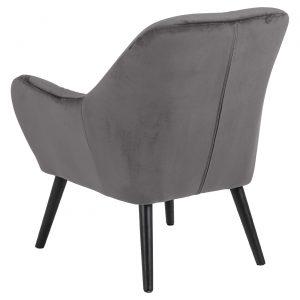 RI 1739 173 11 – Astro Resting Chair VIC Dark Grey, Rubber Wood Leg Black (2)