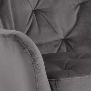 RI 1739 173 11 – Astro Resting Chair VIC Dark Grey, Rubber Wood Leg Black (6)